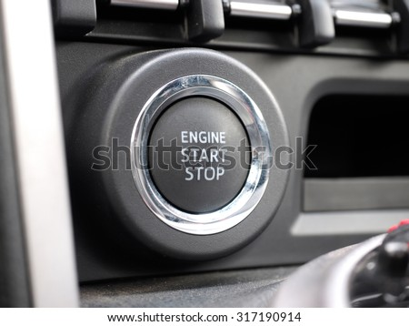 modern science and technology show limousine interior, air conditioning knobs control - stock photo