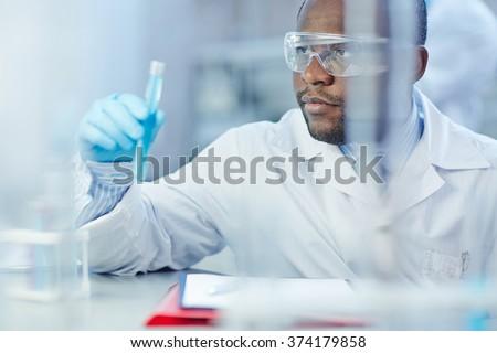 Modern scientist - stock photo