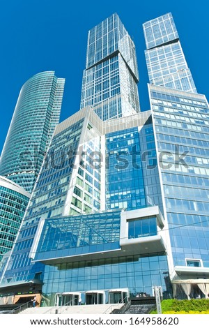 Modern scyscrapers of Moscow city business center - stock photo