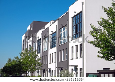 Modern serial housing in Berlin - stock photo