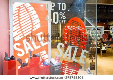 modern shopfront display window - stock photo