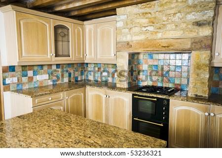 Modern Show Room Kitchen - stock photo