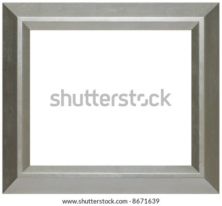 Modern Silver Wood Picture Frame - stock photo