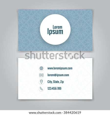 Modern simple business card template card stock illustration modern simple business card template card design business card template for your business fbccfo Image collections