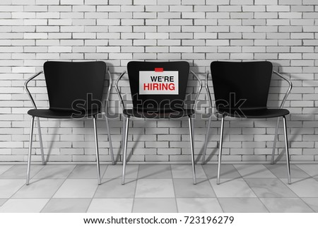 Modern Simpne Office Chairs One Hiring Stock Illustration