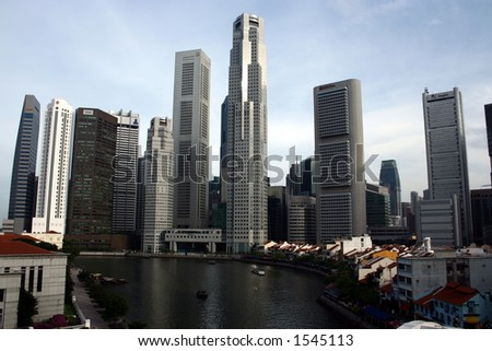 Modern Singapore City by the River