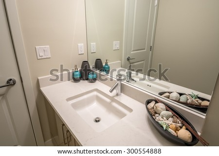 Modern sink in a bathroom. Interior design.