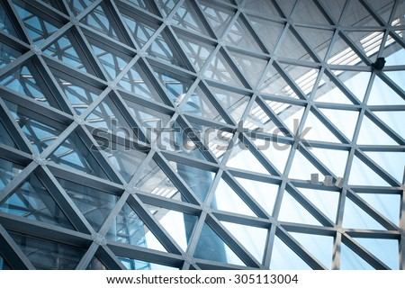 Modern skyscraper business office, corporate modern building fasade abstract.  - stock photo