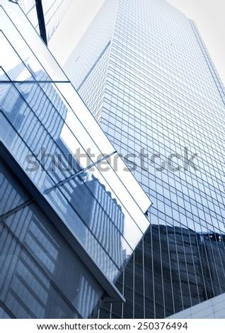 Modern skyscraper in Singapore, Singapore - stock photo