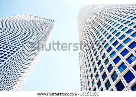 modern skyscrapers - stock photo