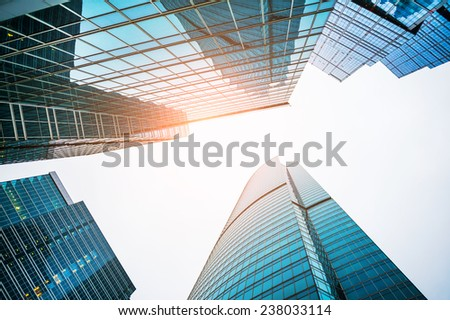 Modern skyscrapers of the business center.  - stock photo