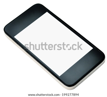 modern smartphone isolated on white
