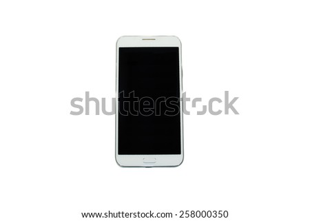 Modern smartphone isolated on white background. - stock photo