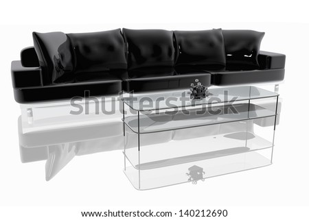 Modern sofa and table - stock photo