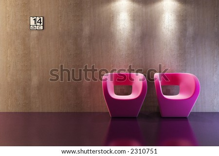 modern sofa 3D computer rendering - stock photo