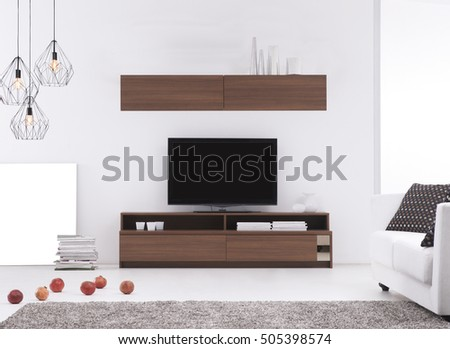 modern sofa living room with gray walls and beautiful designs, modern lamp