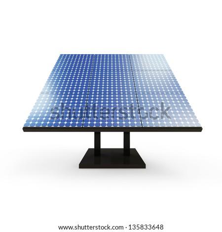 Modern Solar Panel isolated on white background - stock photo