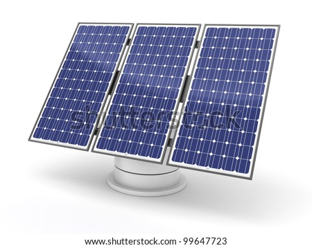Modern Solar panel on white background (done in 3d)