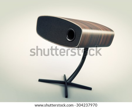 Modern speaker isolated on white 3d model