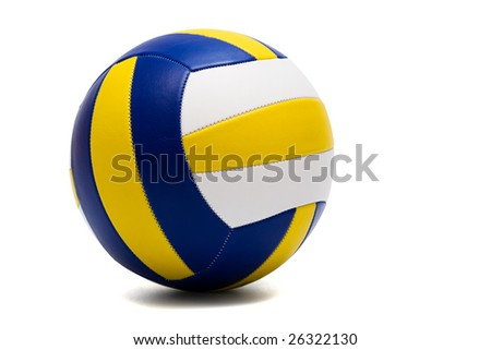 modern sport ball on a white background