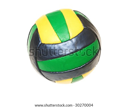 modern sport ball on a white background - stock photo