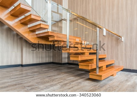 modern stairs in new office building  - stock photo