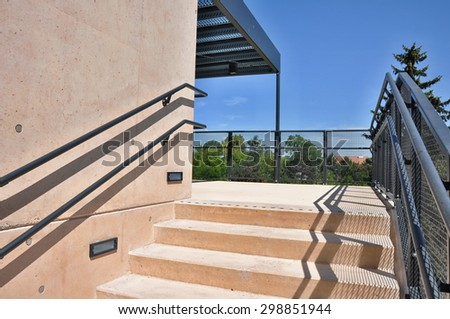 modern stairs in outside passage - stock photo