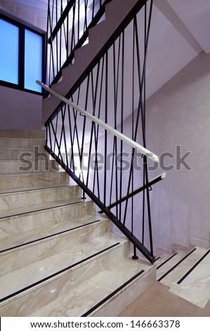 Modern Stairway - stock photo