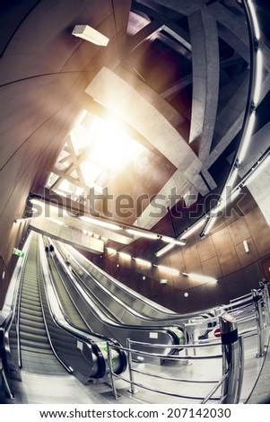Modern station interior  - stock photo