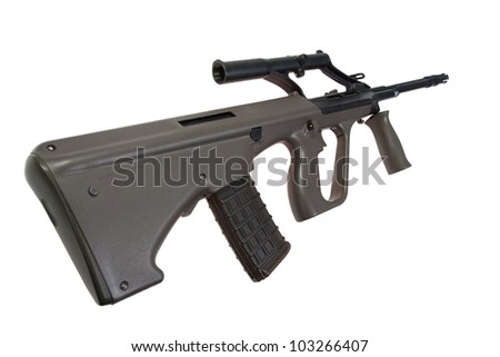 modern Steyer Aug assault rifle isolated