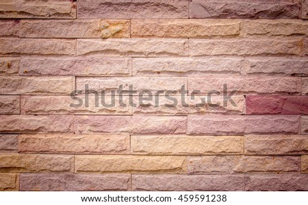 Modern stone brick wall background, texture - stock photo