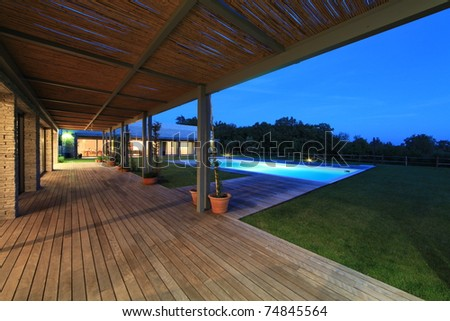 Modern stone house in Istria - stock photo
