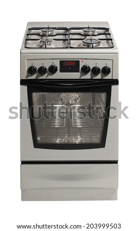 Modern stove isolated on white