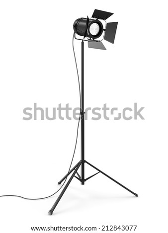 Modern Studio Spotlight isolated on white background