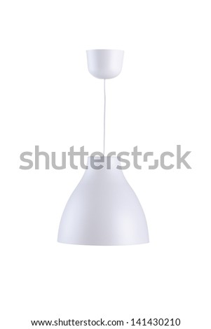 Modern style ceiling lamp isolated on white background - stock photo