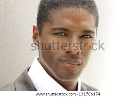 Modern style highly detailed portrait of a professional attractive young businessman - stock photo
