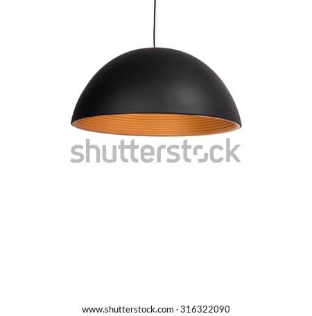 Modern style modern lamp isolated on white background. - stock photo
