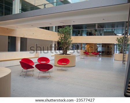 Modern style office hospital waiting room reception - stock photo