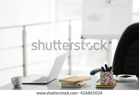 Modern stylish office work place - stock photo