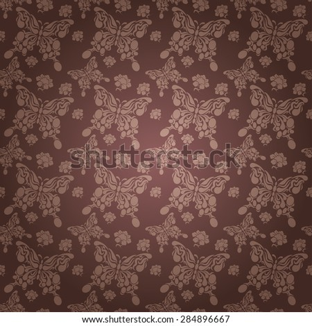 Modern stylish texture butterfly wallpaper pattern background in retro style for your design