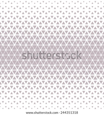 Modern stylish texture of the triangles and hexagons. Seamless pattern. Repeating geometric tiles. White and gray texture. - stock photo