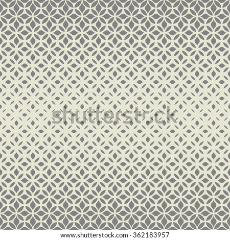Modern stylish texture with flowers. Seamless pattern. Repeating geometric tiles. Gray and white texture.
