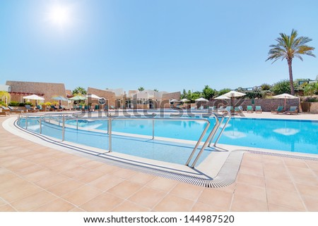 Modern swimming pool and a track for the disabled. In summer, the area of �¢??�¢??the hotel for rest.