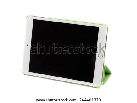 Modern tablet computer isolated on white background. - stock photo