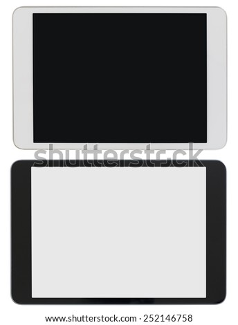 modern tablet PC or ipad photo isolated with clipping path included - stock photo