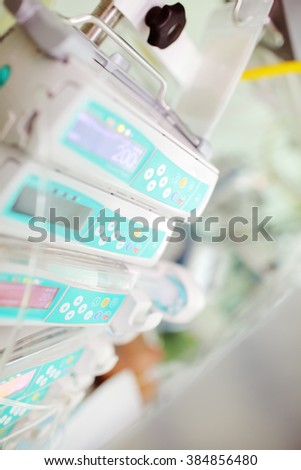 Modern technical devices in medicine. - stock photo
