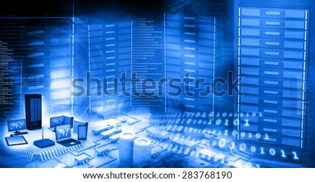 Modern telecommunication technology background  - stock photo