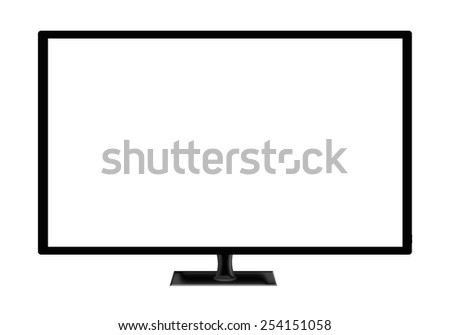 modern television set isolated on white background