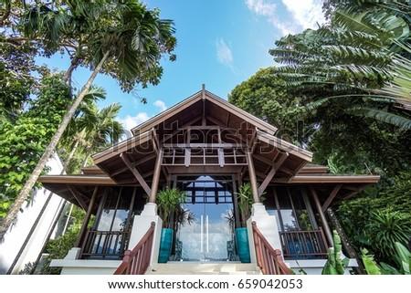 Thai Modern House Stock Images RoyaltyFree Images Vectors