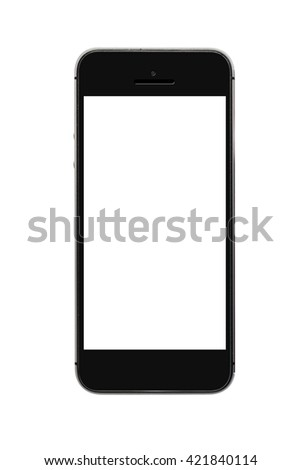 modern touch screen smartphone with blank screen isolated on white background [clipping path]
